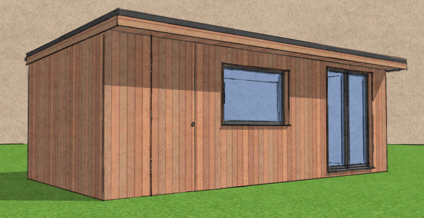 Garden office with store
